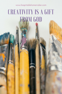creativity is a gift from God