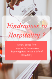 Hindrances to Hospitality in the Life of Christ
