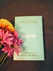 photo of Refresh book with flowers - avoiding burn out