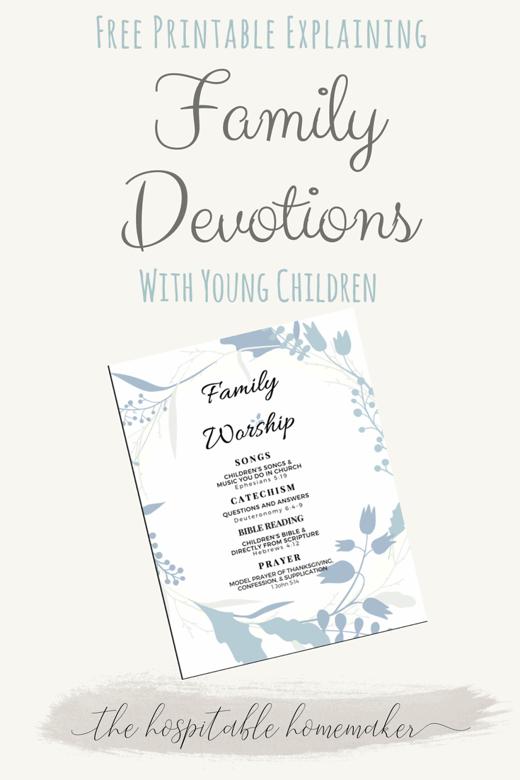 Family Devotions with Young Children – The Whys and Hows