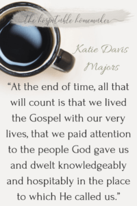 coffee on table with text overlay of katie davis majors quote