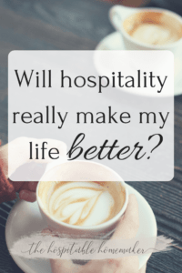 people holding coffee with text overlay will hospitality really make my life better?