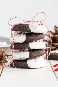 chocolate cookies as neighbor christmas gift