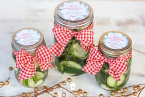 refrigerator pickles as neighbor christmas gift