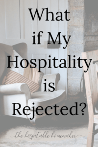 empty chair and table with text overlay what if my hospitality is rejected