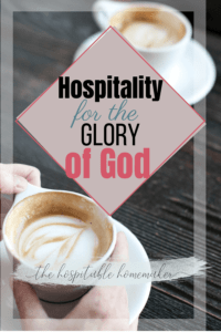 cups of coffee with text overlay - Christian hospitality