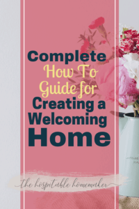 vase with flowers - creating a welcoming home