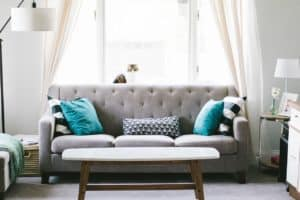 couches in living room - creating a welcoming home