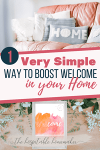 Pinterest image for welcome sign with text overlay