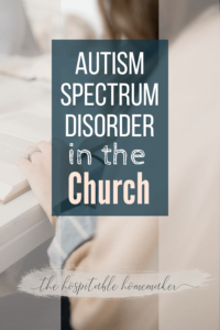 autism spectrum disorder in the church