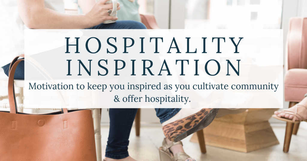 women sitting together with text overlay hospitality inspiration