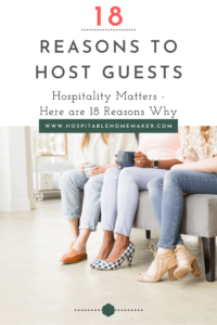 group of women together with text overlay 18 reasons to be hospitable